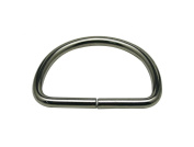 Generic Metal Silvery Big Size D Ring Buckle D-Rings 5.1cm Inside Diameter Lage Size for Backpack Bag Pack of 6