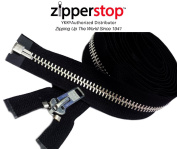 ZipperStop Wholesale YKK® - Chaps Zipper (Special Custom Length) YKK® #10 Extra Heavy Duty Aluminium Separating Colour Black Made in USA