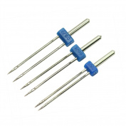 High Quality 3pc Durable Double Twin Needles Pins Sewing Machine Accessories New