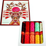 Aurifil Thread Set Moonshine Strawberry by Tula Pink 50wt Cotton 10 Small (220 yard) Spools