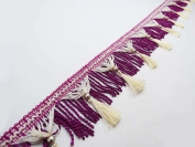 Purple Trim Fringe Curtain Fringe Lace Upholstery Ribbon 11cm Trim By The Yard