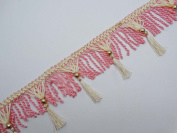 Upholstery Ribbon Pink Tassel Trim Curtain Fringe Lace 10cm Inches Trim By The Yard