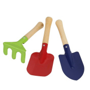 WINOMO Outdoor Garden Tools Set Rake Shovel Kids Beach Sandbox Toy 3pcs
