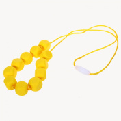 MyBoo Autism/Sensory/Teething Chewable Funky Square Beaded Necklace - Set of 2, Red/Yellow