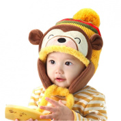 Yoyorule Fashion Cute Winter Warm Kid Baby Girl Boy Ear Thick Knit Beanie Cap Hat