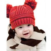 Yoyorule Cute Baby Kids Girl Boy Dual Balls Warm Winter Knitted Cap Hat Beanie