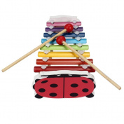 Binmer(TM)Baby Kids Musical Toys 8-Note Xylophone Wisdom Development Wooden Instrument