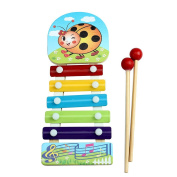 Doinshop Funny Baby Kids Musical Education Instrument 5-note Glockenspiel Xylophone