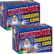 (Set of 2) Classic Christmas Charades Family Party Game - Holiday Themed