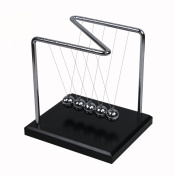BOJIN Z-shaped Frame Newtons Cradle Balance Ball Science Psychology Puzzle Fun Desk Toy