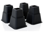Define Essentials Heavy Duty Multi Height Bed Risers and Bed Lifts - 8 Piece Set - Adjustable to 8, 5 or 7.6cm Heights