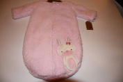 Chick Pea Swaddle Bag Sherpa Pink Bunny 0-3 Months