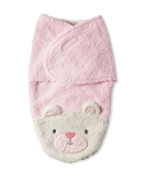 Chick Pea Swaddle Bag Sherpa Pink Bear 0-3 Months