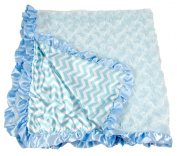 Hairbows Unlimited Infant Baby Boy & Girl Soft Minky Receiving Blankets