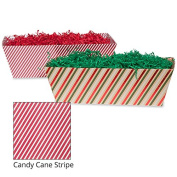 Large Gift Tray Basket - Candy Cane Stripe