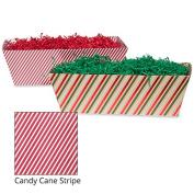 Large Gift Tray Basket - Candy Cane Stripe