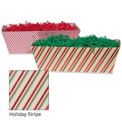 Large Gift Tray Basket - Holiday Stripe