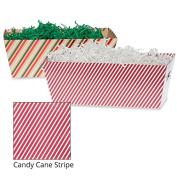 Medium Gift Tray Basket - Candy Cane Stripe