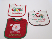 Baby Essentials Feeder Bib Babys First Christmas