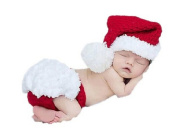 Yonger New Born Baby Christmas Hat and Underwear Two Piece Set