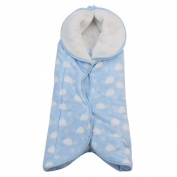Happy Cherry Newborn Baby Infant Flannel Swaddle Wrap Blanket