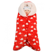 Happy Cherry Newborn Baby Infant Flannel Swaddle Wrap Blanket