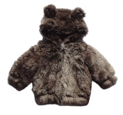 Baby Girls Boys 0.6KG Thick Warn Fur Coat Hooded Snow Jackets