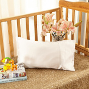 Lilysilk Silk Toddler Pillowcase 19 Momme Pure Mulberry Silk with Cotton Underside 1pc White 33cm x 46cm