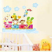 wall decals quotes family making memories : Happy Animal Removable Wallpaper Wall Stickers For Kids Rooms Decal Home Art