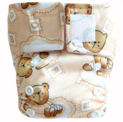 "Kawaii Baby Newborn Reusable Cloth Nappy Pure & Natural 2.7-10kg. With 2 Microfiber Inserts ""Milk Time"""