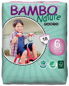 Bambo Nature Premium Baby Nappies, Training Pant, Size 6, 18 Count