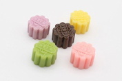 1:12 Dollhouse Miniature, Desserts, 5-Pc Flower Mooncake Set