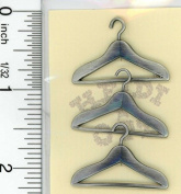 Dollhouse Miniature Set of 3 Brushed Metal Hangers by Heidi Ott