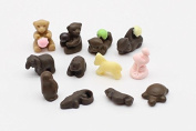 1:12 Dollhouse Miniature, Desserts, 12-Pc Animal Chocolate Set