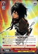 Weiss Schwarz - Mikasa Ackermann - AOT/S35-TE18 - TD (AOT/S35-TE18) - Attack on Titan Trial Deck