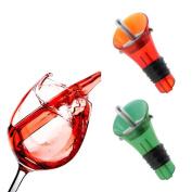 VANKER 1Pc Home Kitchen Quick Aerating Red Wine Decanter Duckbilled Wine Pourer Stopper Cork Random Colour