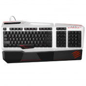 Mad Catz S.T.R.I.K.E.TE Tournament Edition Mechanical Gaming Keyboard for PC -Gloss White
