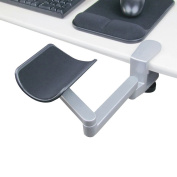 eLink Pro® Ergonomic Articulating Wrist Rest - Aluminium Alloy Computer Arm Rest - Flexible Computer Support - Freely Arm Support_Silver