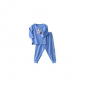 Halo Innovations 2105 24 Months ComfortLuxe Sensitive Skin Sleepwear Two Piece Set - Flannel Feel Blue Pup Pals