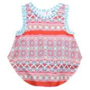 Counting Daisies Baby Girls Orange Kaleidoscope Sleeveless Onesie Bodysuit 6M