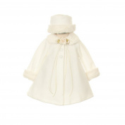 Kids Dream Ivory Fleece Faux Fur Collar Stylish Coat Baby Girl 18M