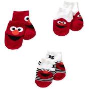 Elmo Newborn Baby Boy Quarter Socks - 3 Pack