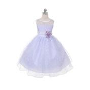 Kids Dream Baby Girls Lilac Sash Dot Sheer Easter Flower Dress 6M
