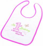 Lillian Rose 24BI600 P First Birthday Bib - Pink