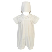 Lito Baby Boys White Cotton Romper Christening Easter Outfit 12-18M