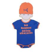 Sozo Baby Boys Blue Orange Cotton Short Sleeve Hat Bodysuit Set 12M