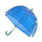 totes ISOTONER Kids Vinyl Pinch-Proof Clear Bubble Umbrella, Blue