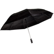 TOTES NEW Black Golf Sized Automatic Open Vented Canopy Large Umbrella