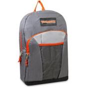 Trailmaker Boys Grey Orange Pocket Durable School Backpack