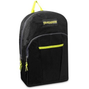 Trailmaker Boys Black Neon Green Pocket Durable School Backpack